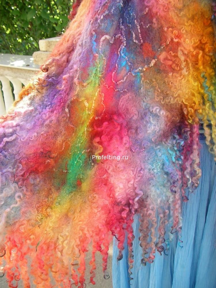 Приглашаю на мой новый вебинар «Валяем и красим палантины» 19 июня 2014 г.