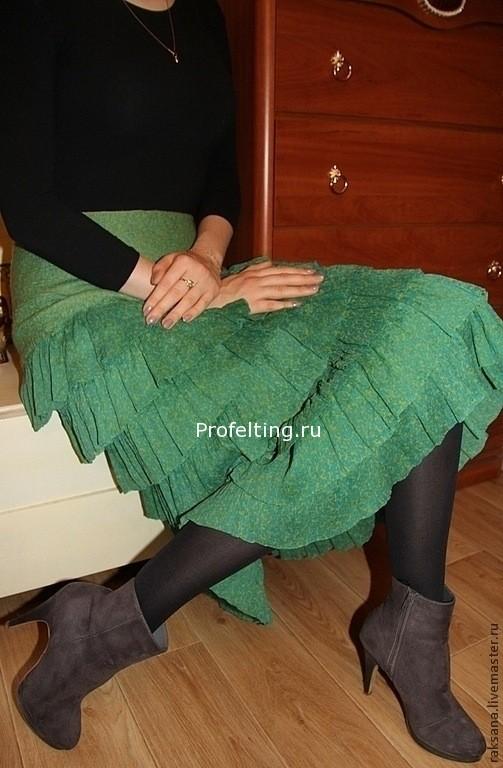 Новогодняя акция — 50% на МК по валянию нуно-войлочной юбки!