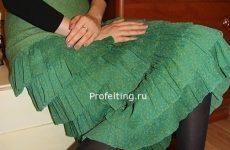 В продаже — Мастер-класс «Нуно-войлочная  юбка с идеальными оборками»