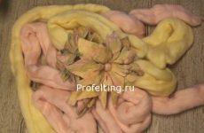 Квадратные цветы или как пропитывать готовый войлок